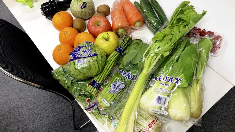 用意した野菜